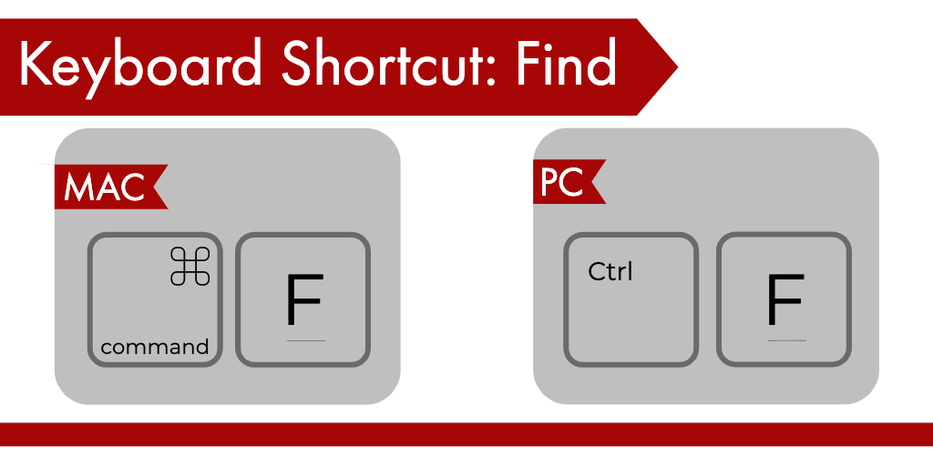 KeyboardShortcut Find